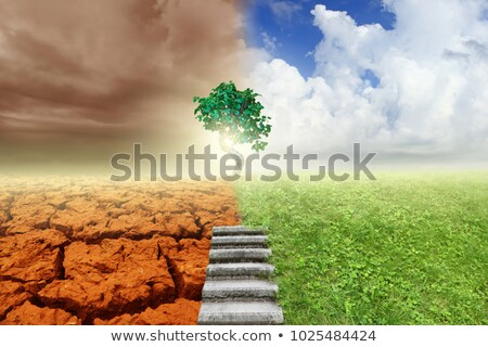 clean air and polluted earth mix stock photo © haywiremedia