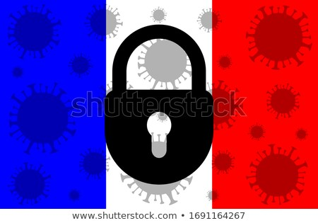 Map and flag of France stock photo © rbiedermann