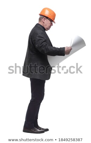 Full length view of senior architect stock photo © stockyimages
