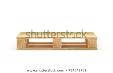 Houten uitrusting hek staal hout zomer Stockfoto © remik44992