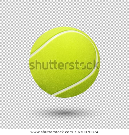 Tenis topu yalıtılmış beyaz tenis kimse Stok fotoğraf © Dizski
