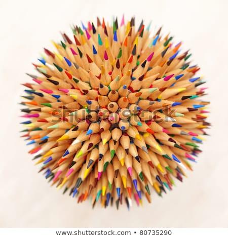 Yalıtılmış nesne gökkuşağı kalem beyaz odak Stok fotoğraf © Dizski
