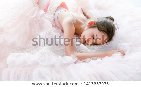 beautiful woman dancer resting on the floor stock photo © feedough