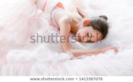 beautiful woman dancer resting on the floor Stock photo © feedough