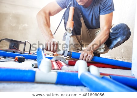 plumber installing water pipes stock photo © photography33