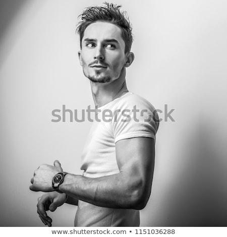 моде · стиль · фото · красивый · молодым · человеком - Сток-фото © danielkrol