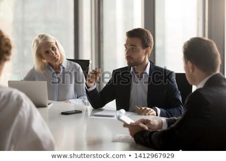 Zakenman luisteren collega werken team werknemer Stockfoto © photography33