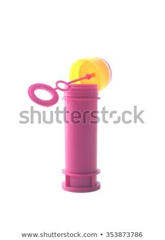 Kabarcık üfleyici pembe yaz oyuncak Stok fotoğraf © crisp