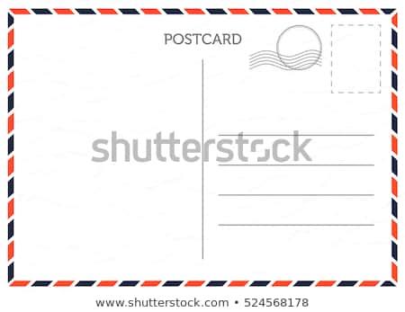 Carte postale vintage prêt texte papier mail Photo stock © Pakhnyushchyy