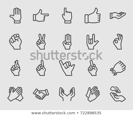 Business hand gestures set stock photo © grafvision