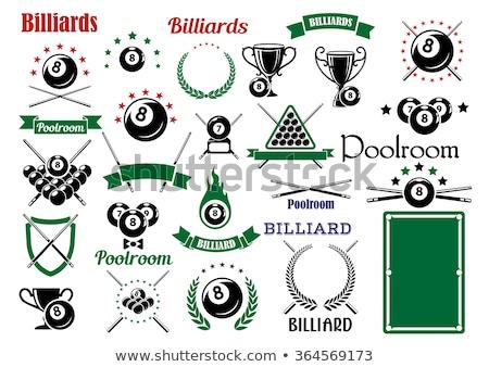 Billiards Eight Ball Flaming Vector Design Template Stock photo © chromaco