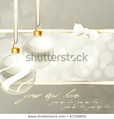 Elegant Cream-Colored Holiday Banner With Christmas Ornament stock photo © karolinal