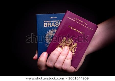 Dos aislado blanco viaje sello Foto stock © broker
