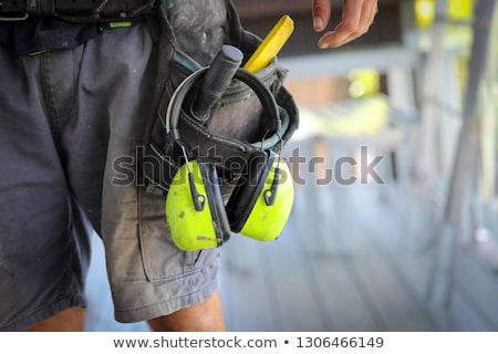 Handlowiec narzędzia człowiek budowy świetle niebieski Zdjęcia stock © photography33