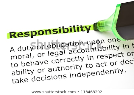 Stock photo: Responsibility highlighted in green