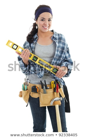 handywoman isolated on white background stock photo © photography33