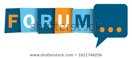 Blue Button with word Forum on it. stock photo © tashatuvango