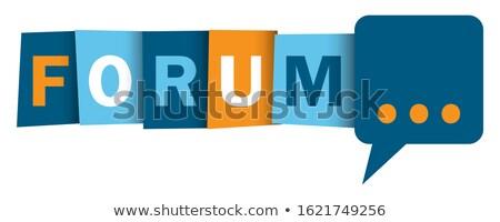 Kék gomb szó fórum webes gomb internet Stock fotó © tashatuvango
