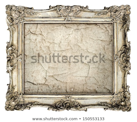 Old cracked gilded frame on white  stock photo © Sandralise