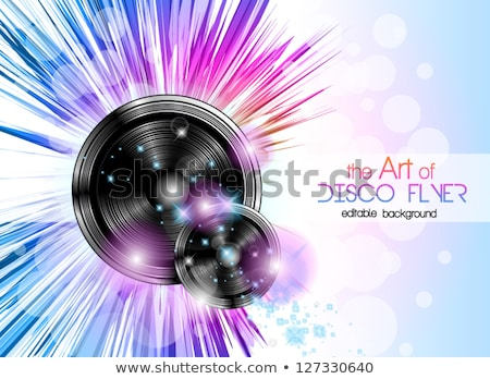 disco club flyer with a lot of abstract colorful design elements stock photo © davidarts