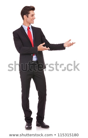 Business man presenting something or inviting  Stock photo © feedough