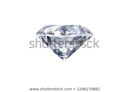 Hibátlan gyémánt fenséges nagy fehér Stock fotó © Kacpura