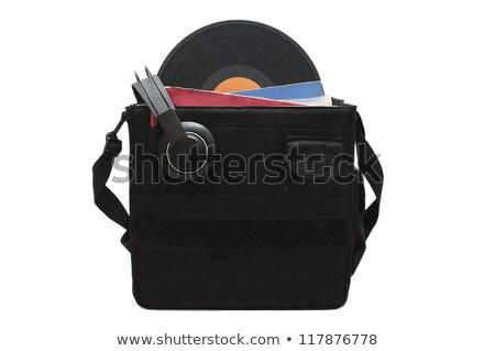 Discjokey suitcase to carry vinyl records Stock photo © HectorSnchz