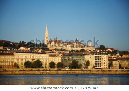 overview of budapest as seen from szechenyi chain bridge stock photo © andreykr