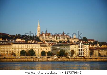 cadeia · ponte · pescador · Budapeste · Hungria - foto stock © andreykr