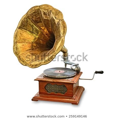 gramophone isolated Stock photo © Witthaya