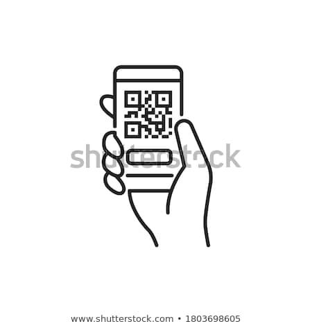 código · qr · mano · negocios · tecnología - foto stock © georgejmclittle
