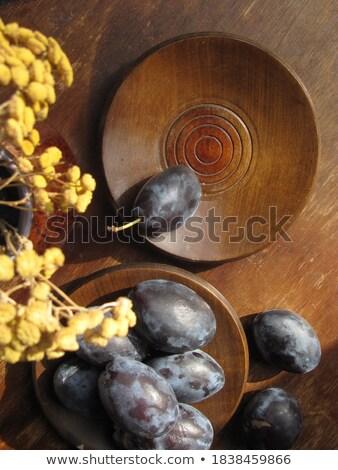 Fleur jaune bol pays style isolé blanche Photo stock © brulove
