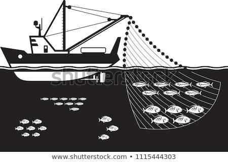Pêche hélice vue poissons métal acier Photo stock © 3523studio