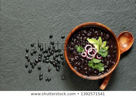 Zwarte boon witte eten schaduw Stockfoto © yuliang11