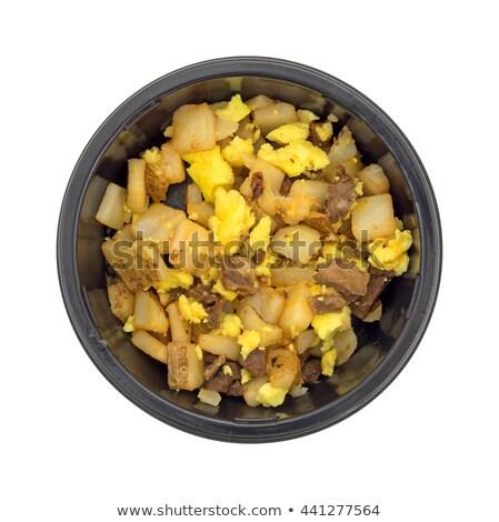 黄色 プラスチック 電子レンジ ボウル 空っぽ 孤立した ストックフォト © ziprashantzi