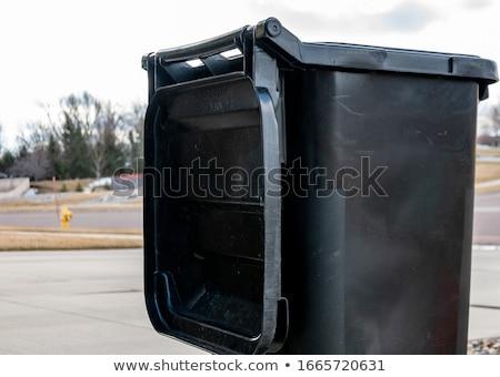 blak garbage bins stock photo © stevanovicigor
