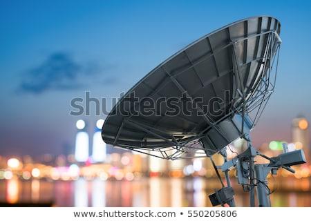 Műhold televízió fal ház égbolt épület Stock fotó © vavlt