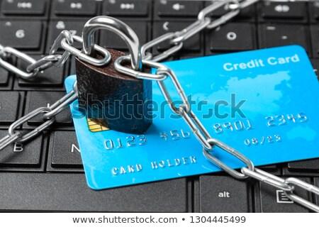 Hitelkártya tilalom üzlet gazdaság kredit vektor Stock fotó © zzve