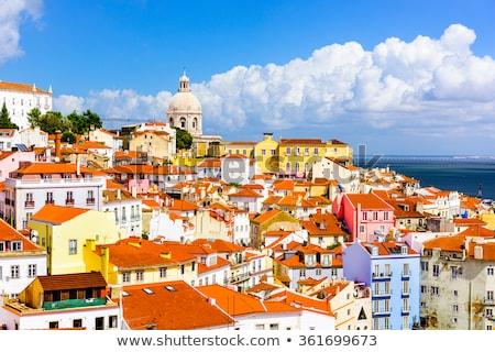 Lisboa Portugal colorido casas nublado Foto stock © gvictoria