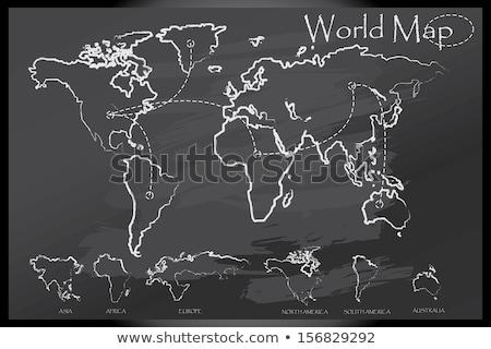 Мир карта мелом совета мира земле зеленый Сток-фото © matteobragaglio