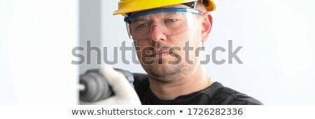 Architekta okulary ochronne portret biały Zdjęcia stock © wavebreak_media