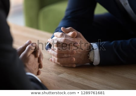 Stockfoto: Business · confrontatie · vergadering · twee · verschillend · teams