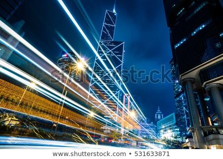Busy traffic in Hong Kong at night Stock photo © kawing921