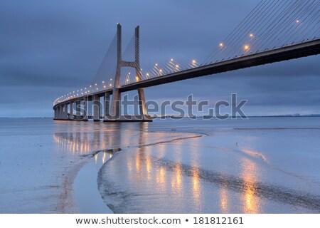 evening on Vasco da Gama bridge Stock photo © vwalakte