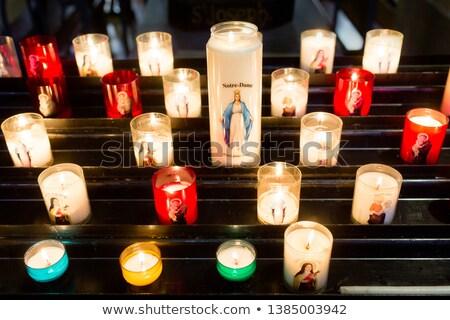 молитвы свечей Париж собора огня религии Сток-фото © chris2k