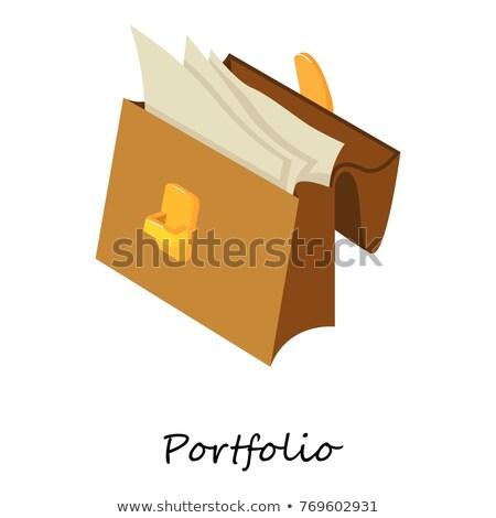 Vector icon file and brief case Stock photo © zzve