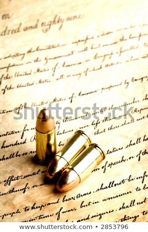 pistool · grondwet · handgun · kopiëren · Verenigde · Staten · Amerikaanse · vlag - stockfoto © alptraum