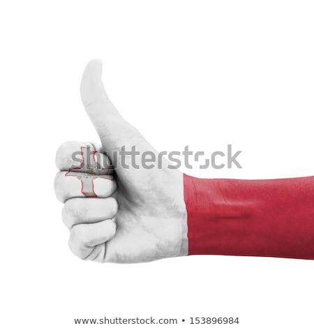 Мальта флаг большой палец руки вверх жест превосходство Сток-фото © vepar5