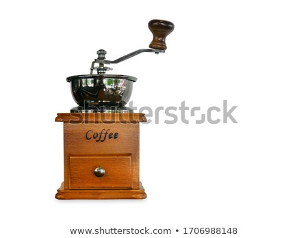 old wooden coffee grinder with clipping path stock photo © sqback