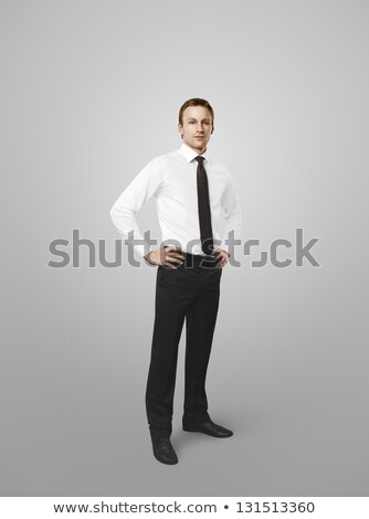 Corporate Man Standing with Hands on Hips stock photo © 805promo